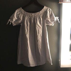Off The Shoulder Stripped Dress